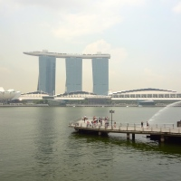 Enjoying the high life atop the Marina Bay Sands